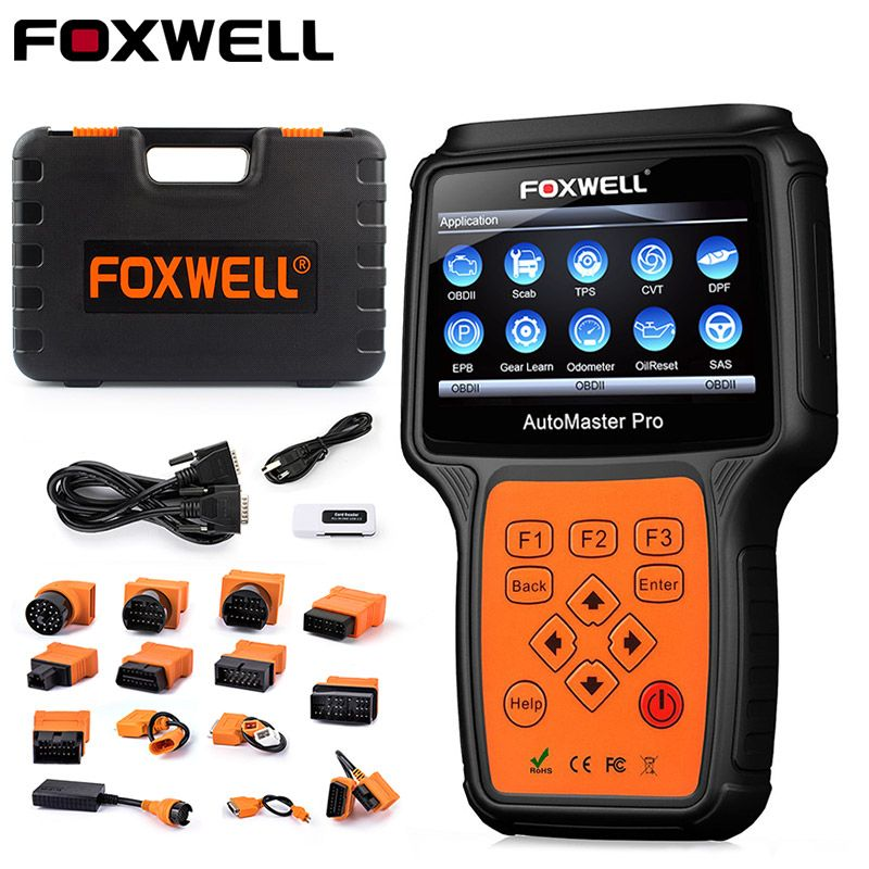 Foxwell NT644 Pro OBD2 Car Auto Diagnostic Tool ABS Oil Reset TPMS TPS Airbag EPB DPF Multi-functional OBD 2 Automotive Scanner