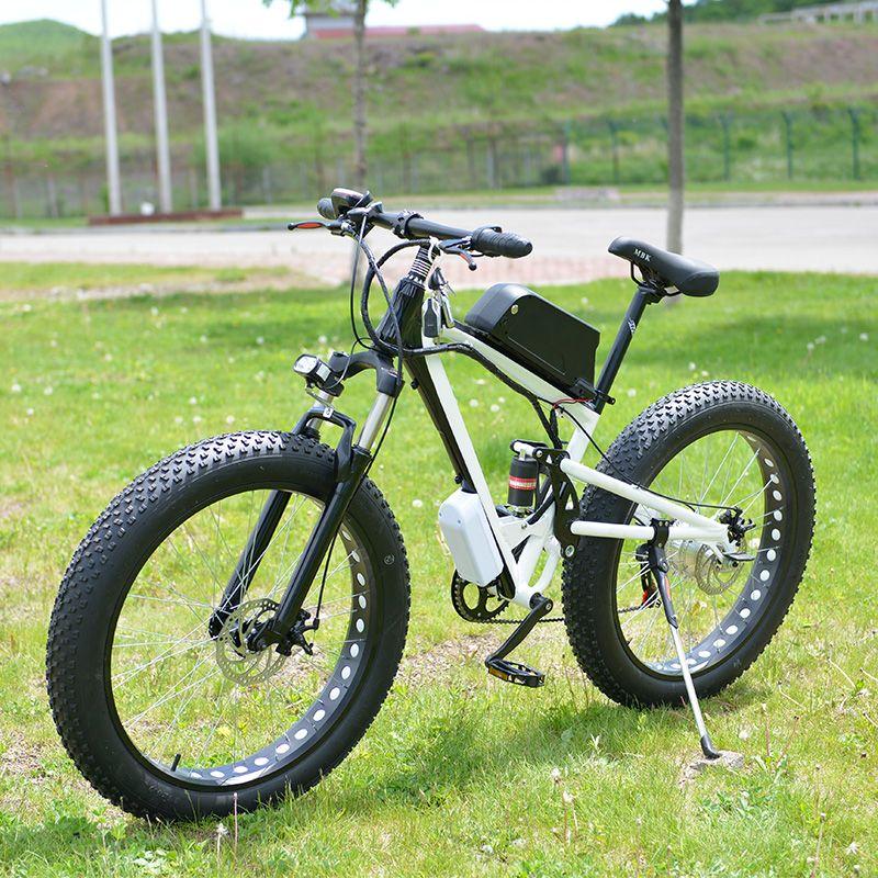 19 zoll Schnee Elektrische Bike 7 Geschwindigkeit, 26*4,0 Fett Reifen Schnee Bike, 48 V 15AH 500 W leistungsstarke Elektrische Fahrrad, Aluminium Legierung Rahmen Ebike