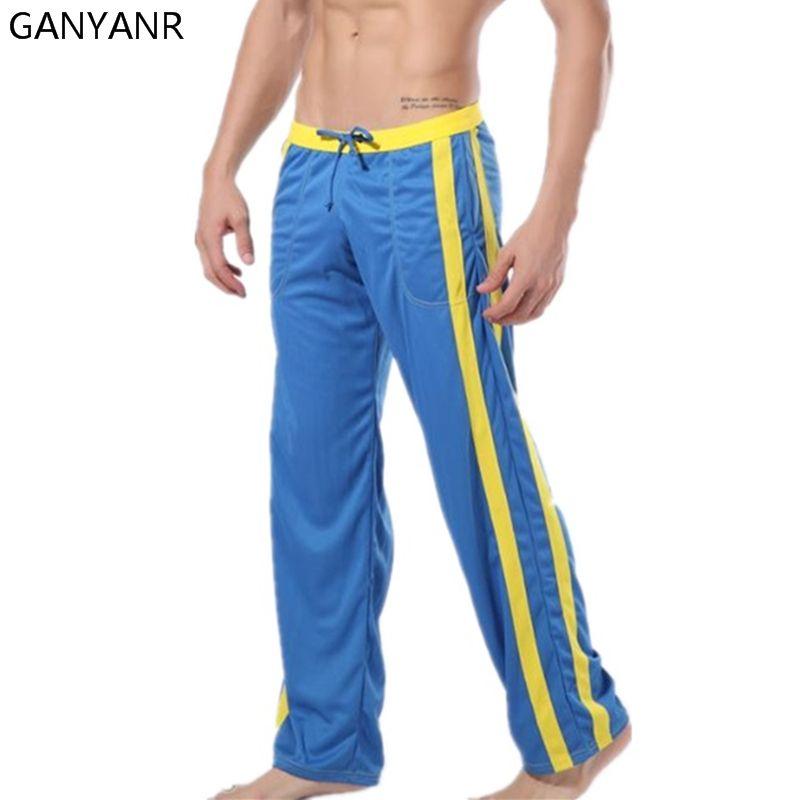 Ganyanr бренд Штаны Для мужчин зимние Фитнес Crossfit Training виды спорта Jogger длинные Мотобрюки спортивные свободные бег тренажерный зал