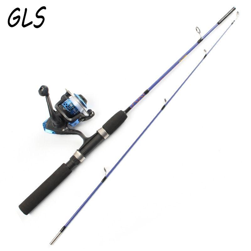 Canne à pêche sur glace Portable à 2 pointes 1.2 M/1.5 M canne à pêche au leurre et moulinet de pêche et combinaison de pêche en ligne