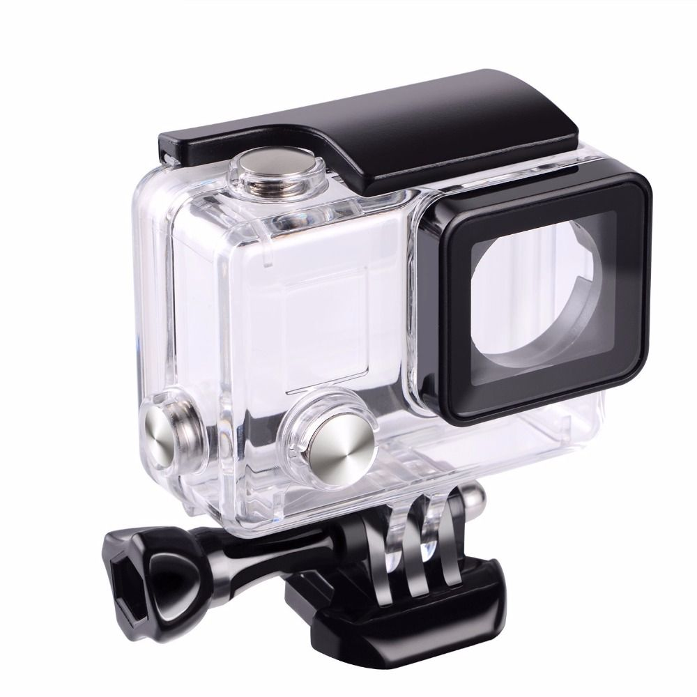 Suptig For Gopro Waterproof Housing Case For Gopro hero 4 Hero3+Hero 3 Underwater Protective Box For Go pro Accessories