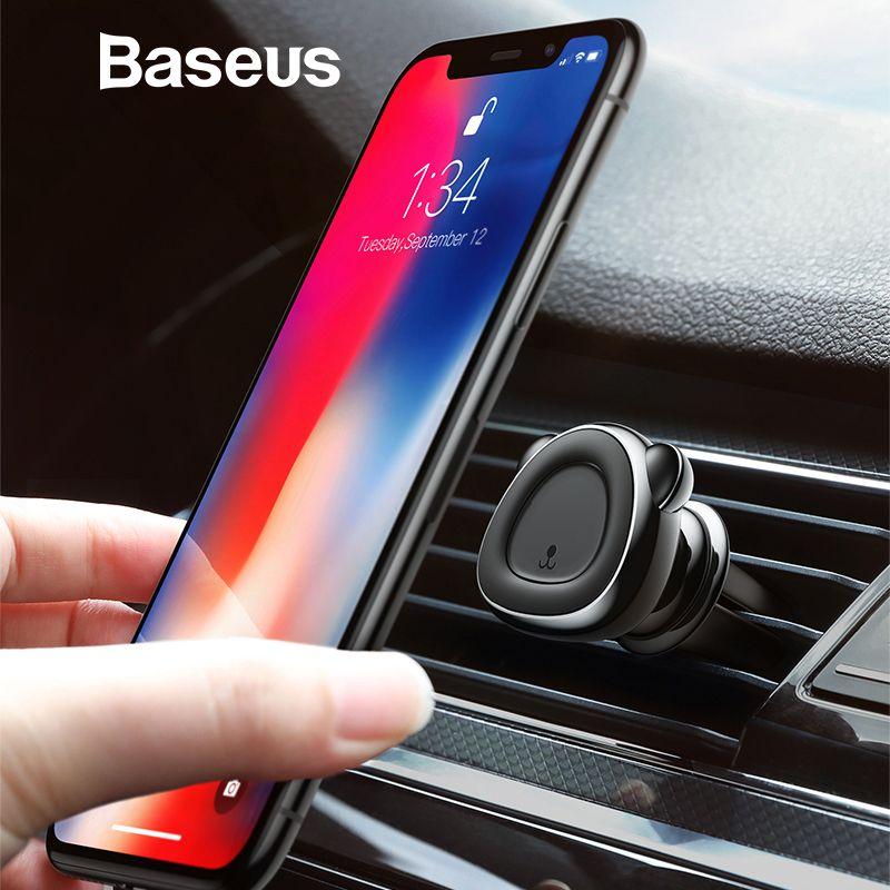 Baseus Magnetische Auto Telefon Halter Für iPhone 8 7 XS Samsung S9 Smartphone Ständer Unterstützung Air Vent Halterung Magent Auto telefon Halter