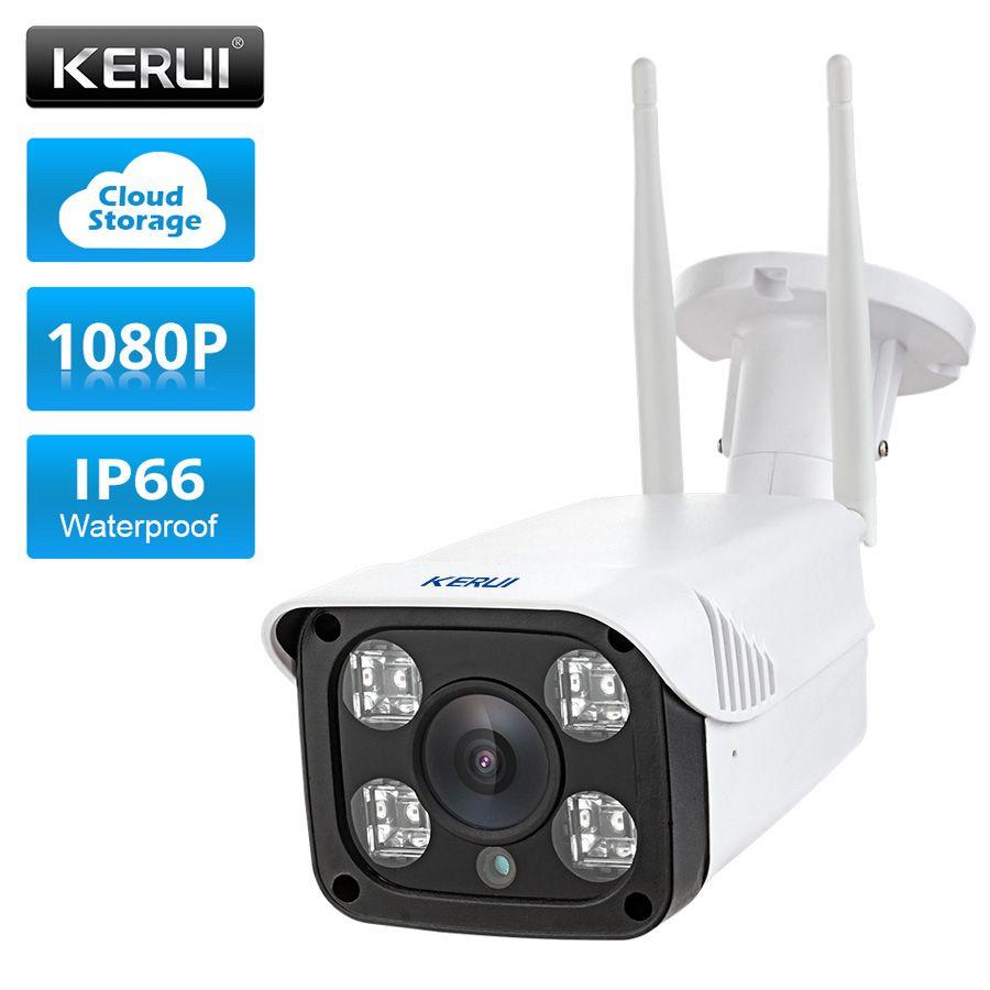 KERUI Full HD 1080 P étanche WiFi caméra IP Surveillance caméra extérieure sécurité Vision nocturne Cloud stockage CCTV caméra