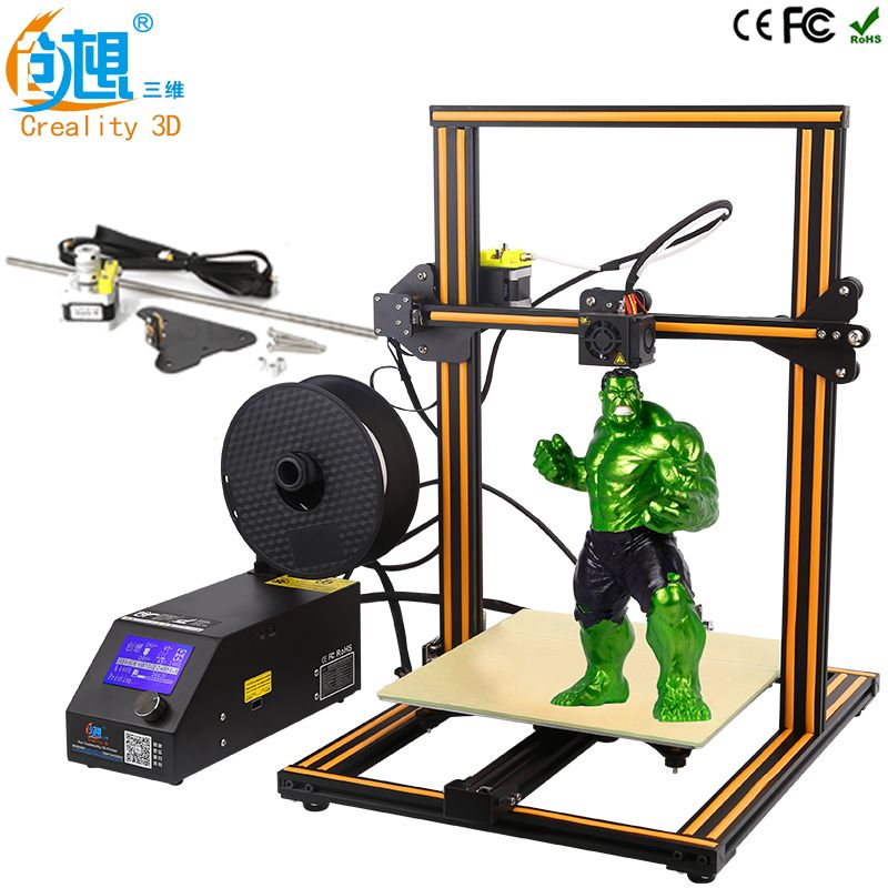 CREALITY 3D CR-10 Large 3D Printer Printing Size 300*300*400mm DIY Kit Aluminum Heated Bed+Upgrade Z axis rod Kit (Optional )