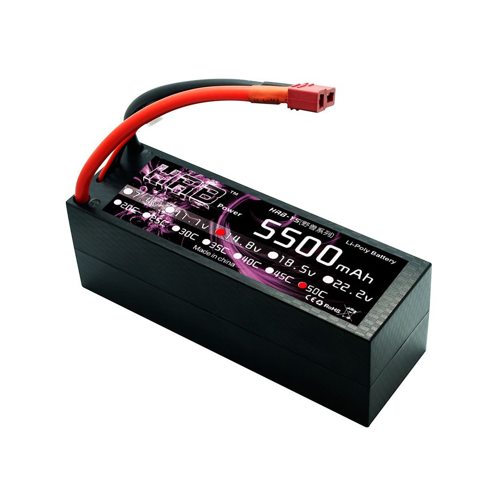 HRB 14.8V 5500mah 50C Max 100C Lipo 4S Battery Hard Case For RC Truck Helicopters Airplane AKKU Car Boat Quadcopter UAV FPV