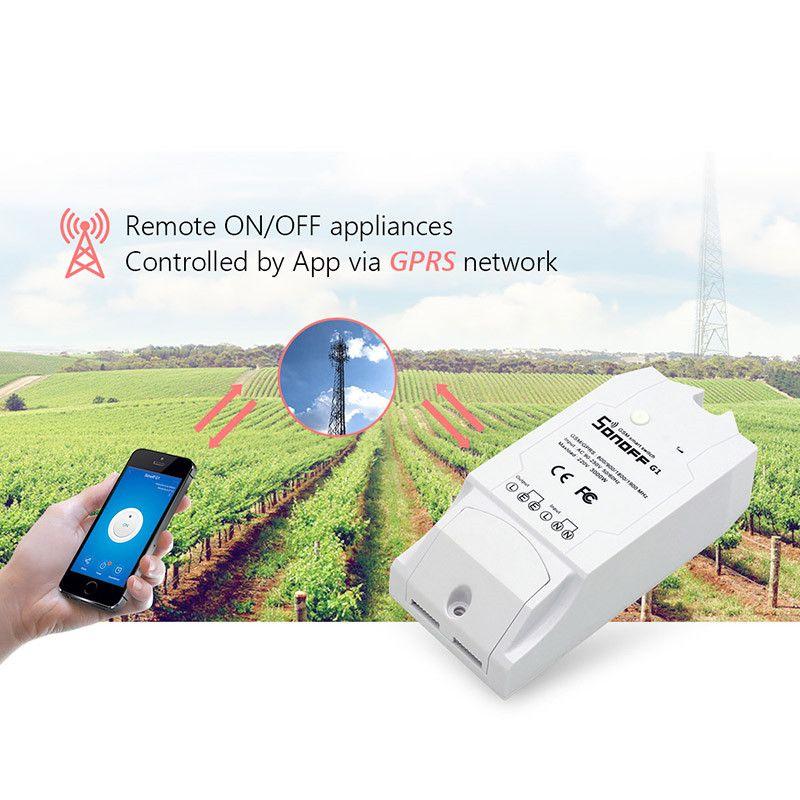 Новые sonoff G1 GPRS/GSM дистанционного Мощность Smart Switch Дистанционное управление любого подключенного Бытовая техника через Android IOS ewelink