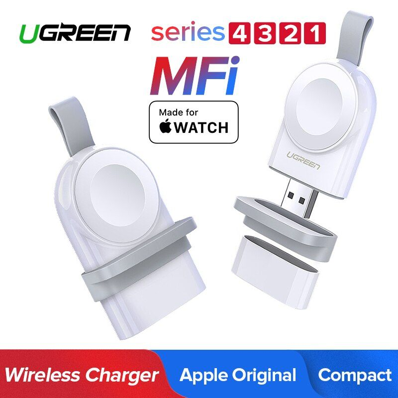 Ugreen MFi Portable Wireless Charger for Apple Watch Charger 4/3/2/1 Series Original Wireless Magnetic Charging Fast USB Charger