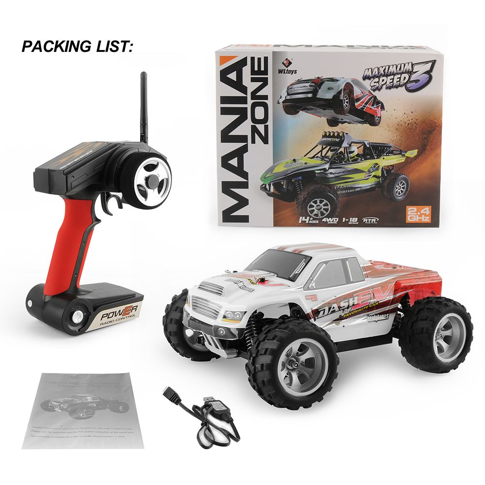 GizmoVine Rc Car Wltoys A959 / A979 1:18 upgrade version 70km/h 2.4G RC car 4WD Radio Control Truck RC Buggy High speed off-road