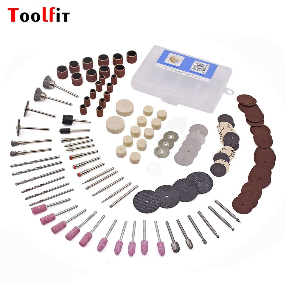 141Pcs Rotary Power Tool Kits For Dremel Accessories 3.0mm Shank Wood Metal Sanding Polishing Grinding Bit Set
