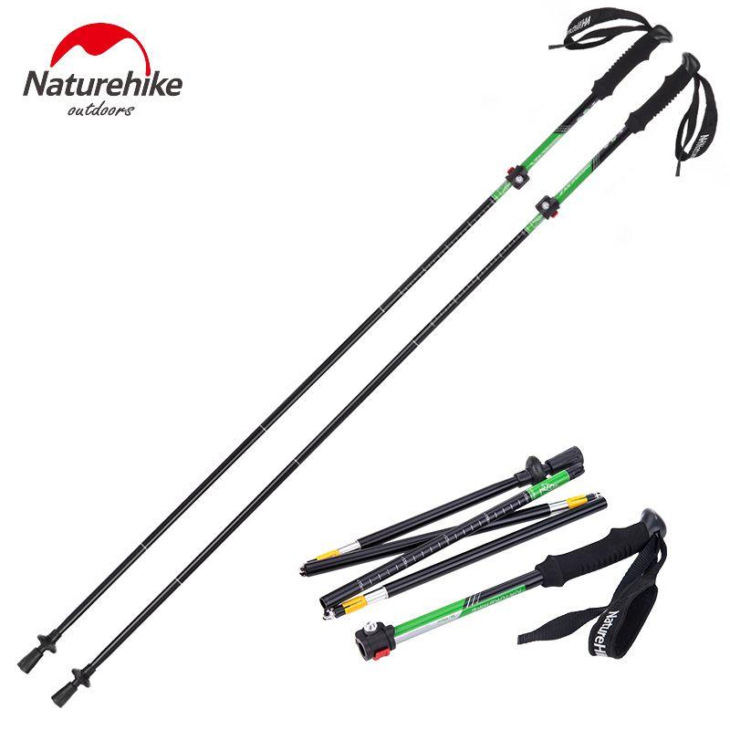 *Brand high quality outdoor Ultra-light EVA Handle 5-Section Adjustable sticks Canes Walking Sticks Trekking Pole Alpenstock