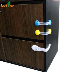 10 unids/lote cajón puerta gabinete armario inodoro Seguridad Candados bebé niños Seguridad Cuidado plástico Candados Correas bebé protección