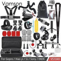 Vamson Für Gopro Zubehör Set für Eken H9R Für Gopro Hero 7 6 5 4 S Berg Selfie stick Stativ für Yi 4 K für Mijia Kit VP104F