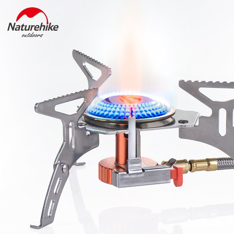 Naturhike New Outdoor Stainless Steel Portable Foldable Picnic Gas Stove For Camping Aluminum Alloy Mini Steel Stove Case
