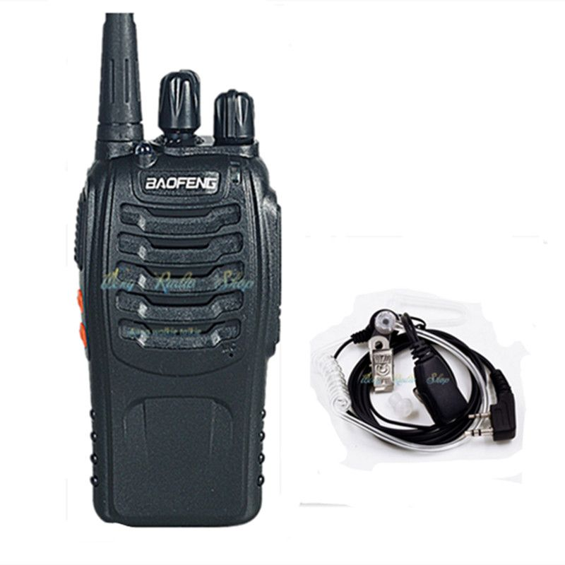 walkie talkie Baofeng BF-888S two way radio handheld Dual Band 5W Handheld Pofung bf 888s radio comunicador + earpiece headset