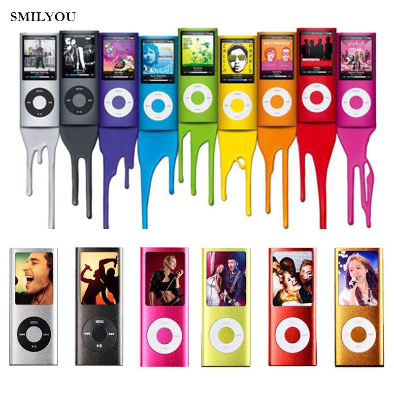 Smilyou vente chaude Slim MP3 MP4 lecteur de musique 1.8 pouces LCD 8 GB 16 GB 32 GB écran de mémoire FM Radio lecteur vidéo avec disponible