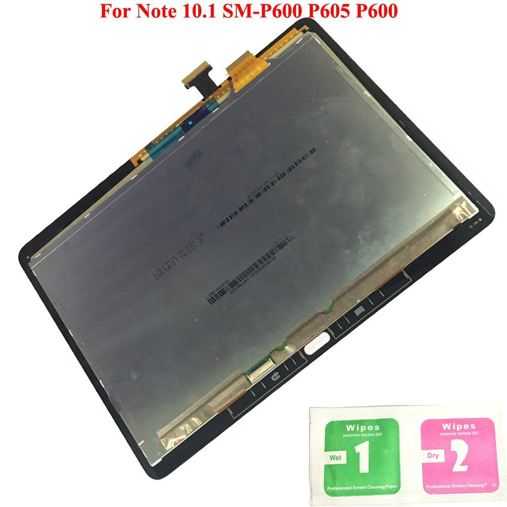 LCD Display Touch Screen Digitizer Sensors Full Assembly Panel Replacement For Samsung GALAXY Note 10.1 SM-P600 P605 P600