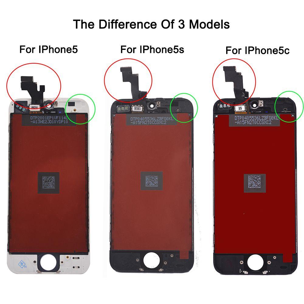 Usine Vente LCD Pour iphone 5 iphone 5c iphone 5 s Écran D'affichage Partie Verre numériseur à écran tactile Assemblée Complet Outils Écran