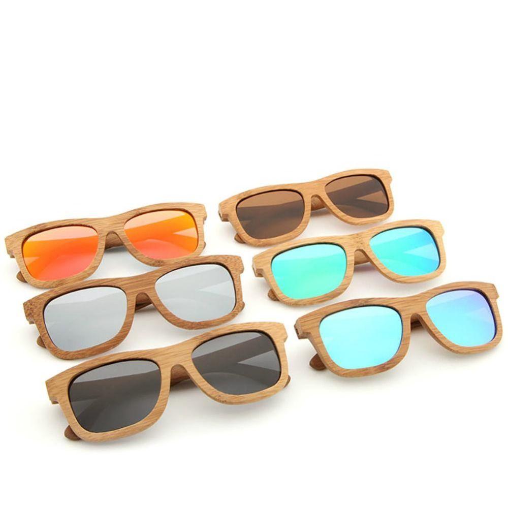 2018 Nouveaux Produits De Mode Hommes Femmes Verre Bambou lunettes de Soleil AU Rétro Vintage Bois Lentille Cadre En Bois À La Main