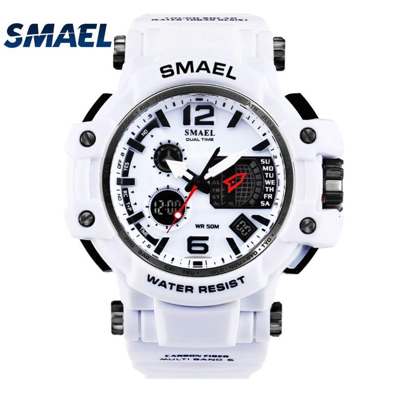 Smael бренд Для Мужчин's Спорт на открытом воздухе часы светодиодный цифровой 30 м водонепроницаемый Повседневное часы с шок мужской часы Relogio ...