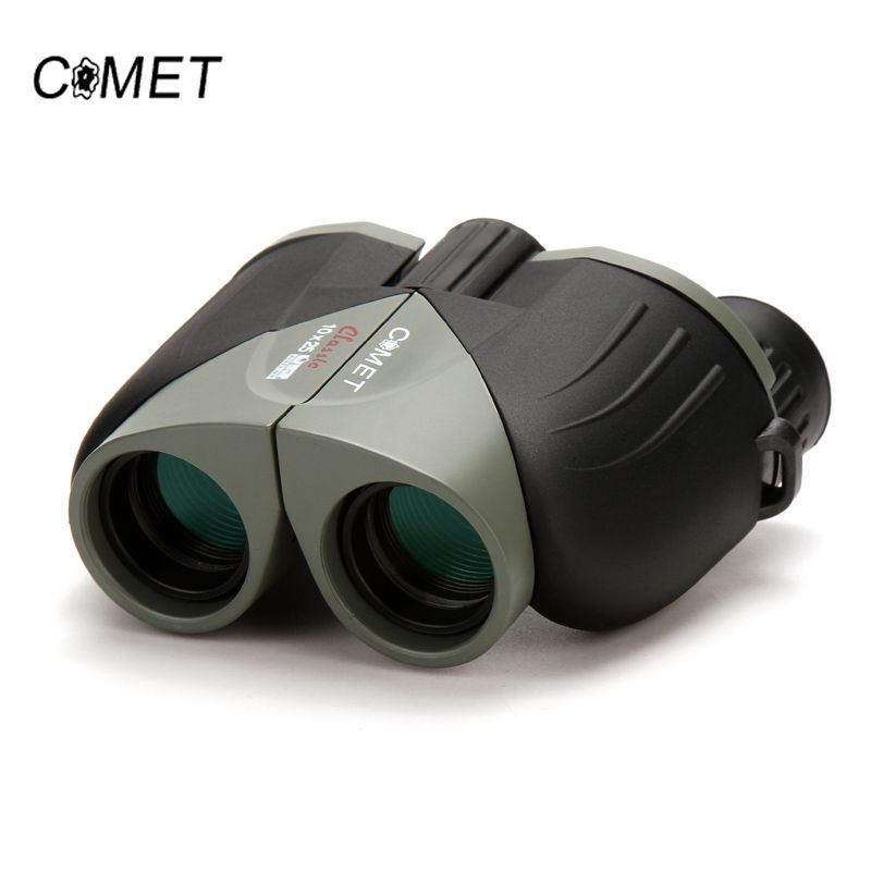 Brand New 10X25 HD Wide Vision 100% optical Binoculars <font><b>Compact</b></font> High Optical Lens Outdoor Tourism Camping Hunting Telescope COMET