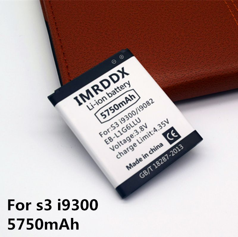 IMRDDX 5750mAh EB-L1G6LLU for Samsung Galaxy S3 Battery i9300 i9305 foR Galaxy Grand DUOS I9082 battery I9080 I9060 Grand Neo