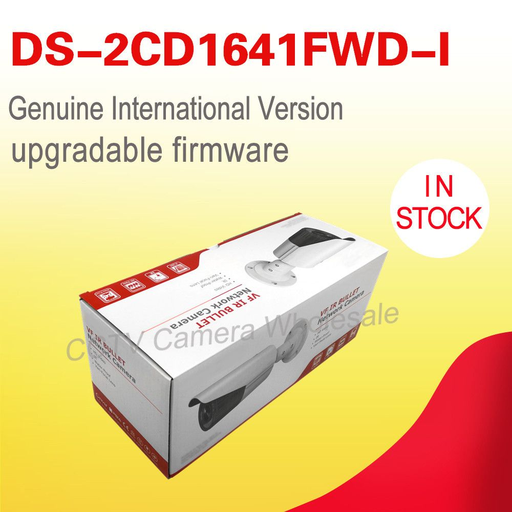 Free shipping English version DS-2CD1641FWD-I replace DS-2CD2645F-IS 4MP network bullet ip cctv camera POE varifocal lens