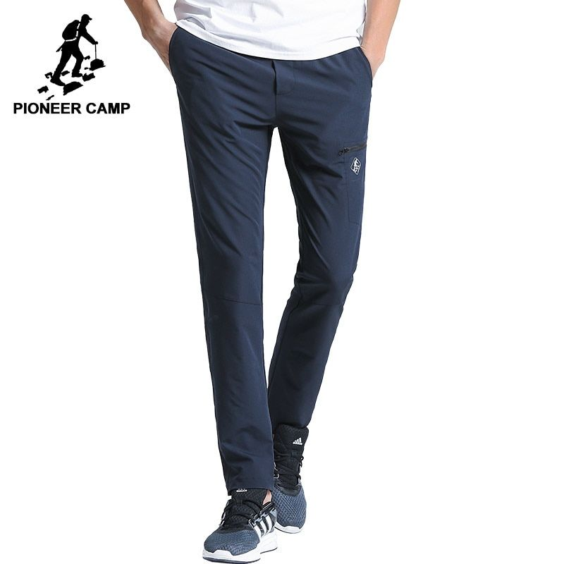 Pioneer Camp New quick drying casual pants men brand-clothing solid straight trousers male quality stretch AXX701160