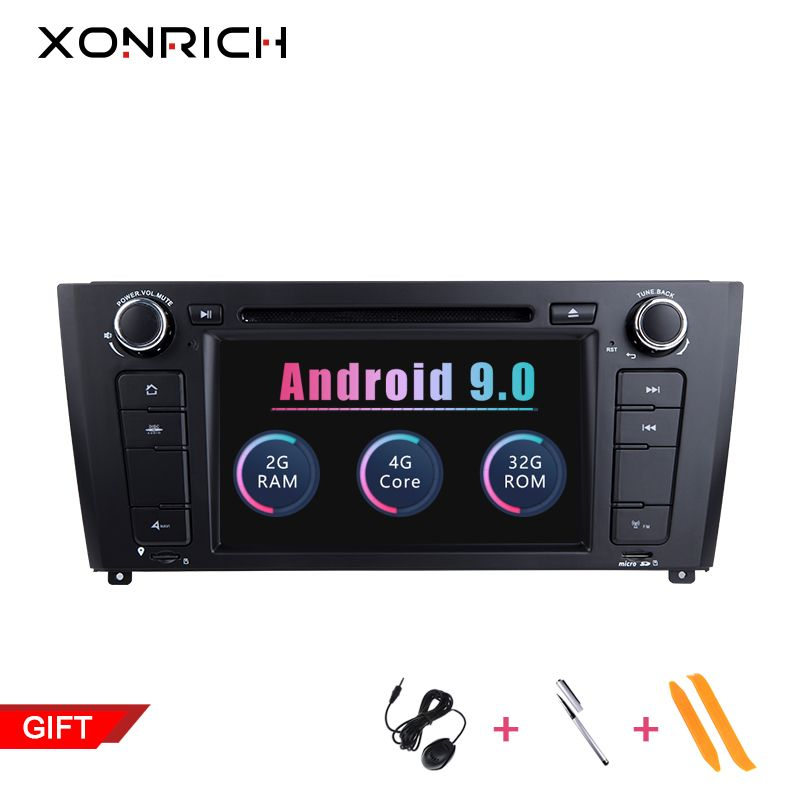 Xonrich 2GB RAM Quad Core 1 Din Android 9.0 Auto Radio DVD-Player Für BMW E87 BMW 1 Serie E88 e82 E81 I20 GPS Navigation 4G Wifi