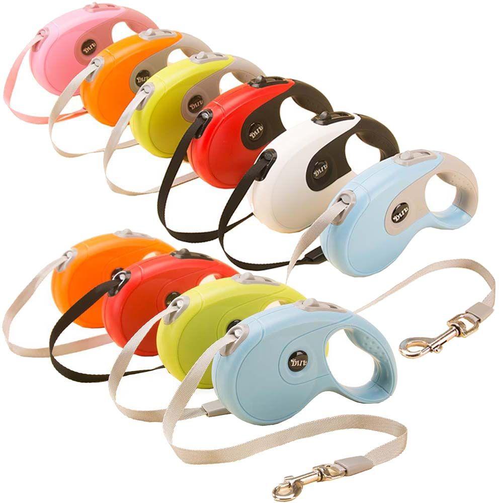 3 M 5 M 40 KG chien rétractable laisse Flexible automatique extensible marche corde Traction pour petit chien moyen 10 couleurs
