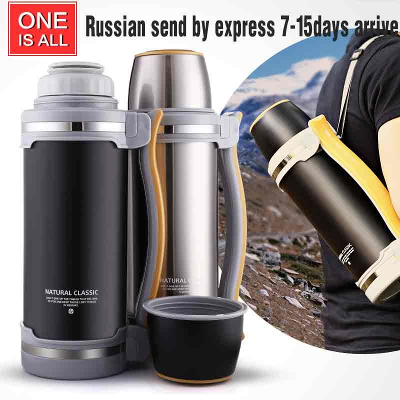 2000ML Stainless Steel Thermos Kettle Insulation Bottle Vacuum Flask with Mug Large Capacity Water Pot Travel drink Kettle