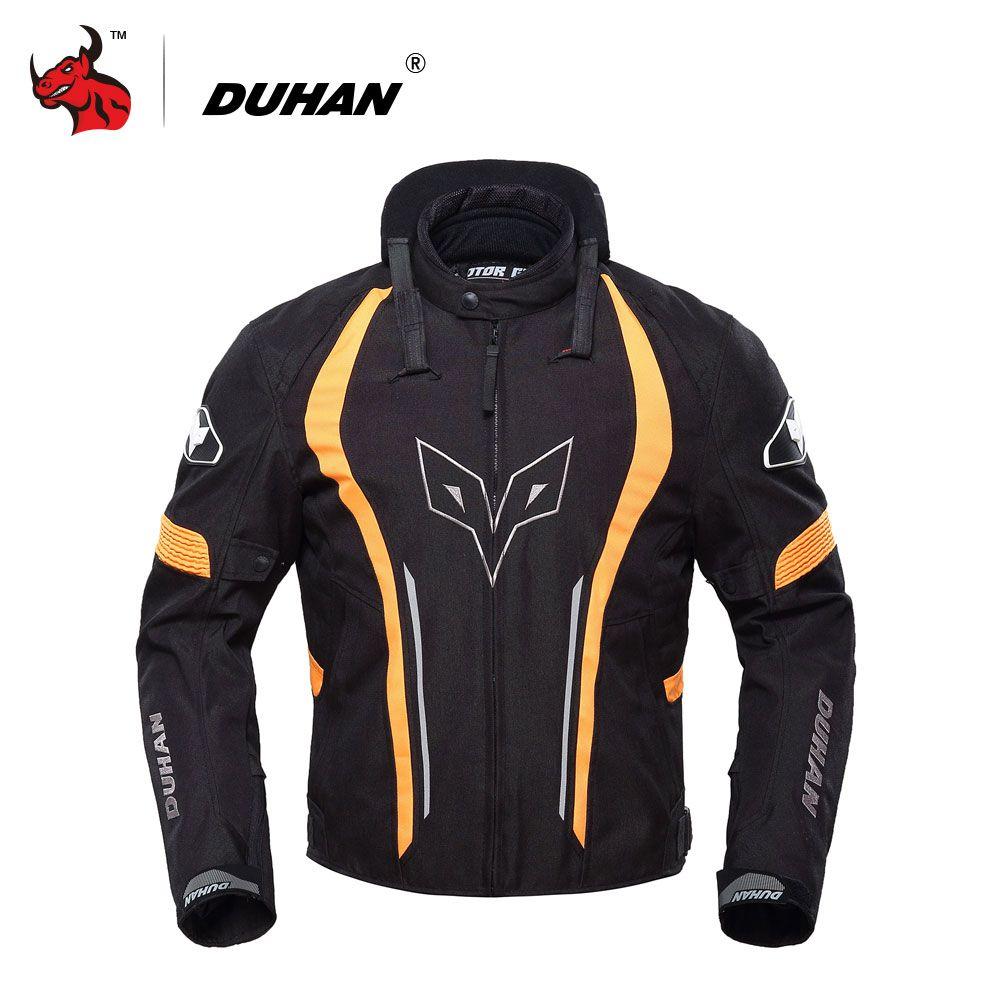 DUHAN Motorcycle Windproof Waterproof Jacket Blouson Moto Motorbike Riding Jacket Protective With Five Protector Blouson Moto