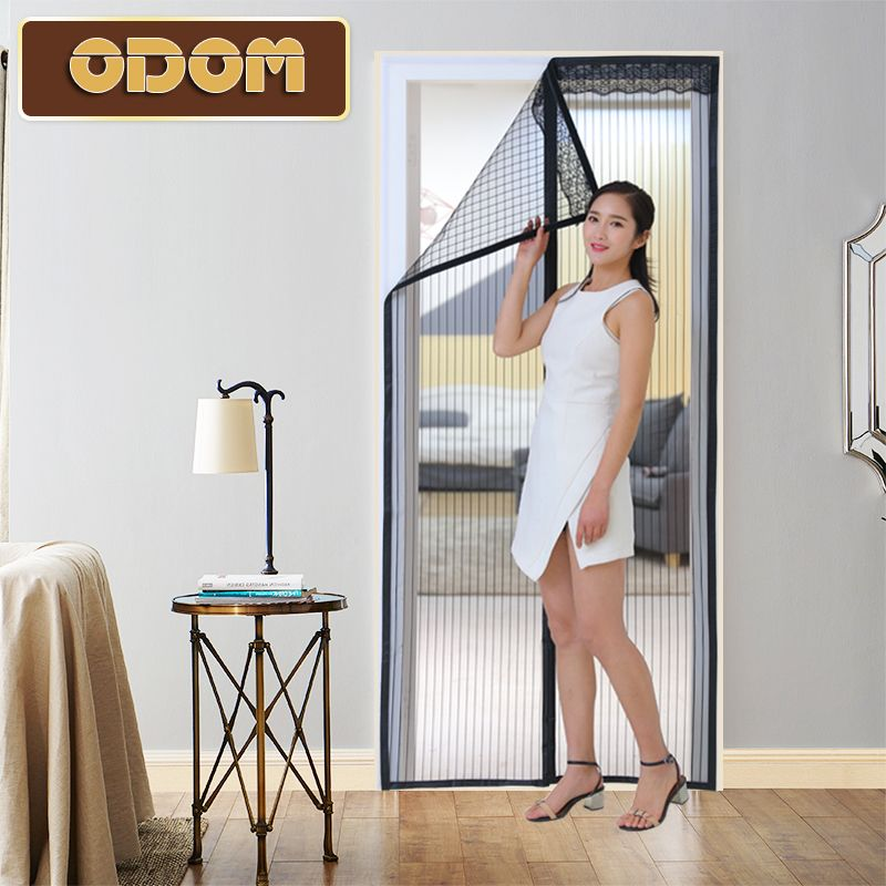 anti-mosquito curtains high quality summer magnetic net mesh screens door Magic Hands-free Door Curtain Window Screens