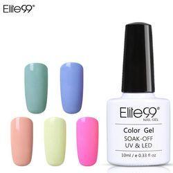 Elite99 Macaron Couleurs Nail Gel Polonais Vernis Semi Permanent UV Gel 10 ml Vernis De Base Nail Art Manucure Gel laque