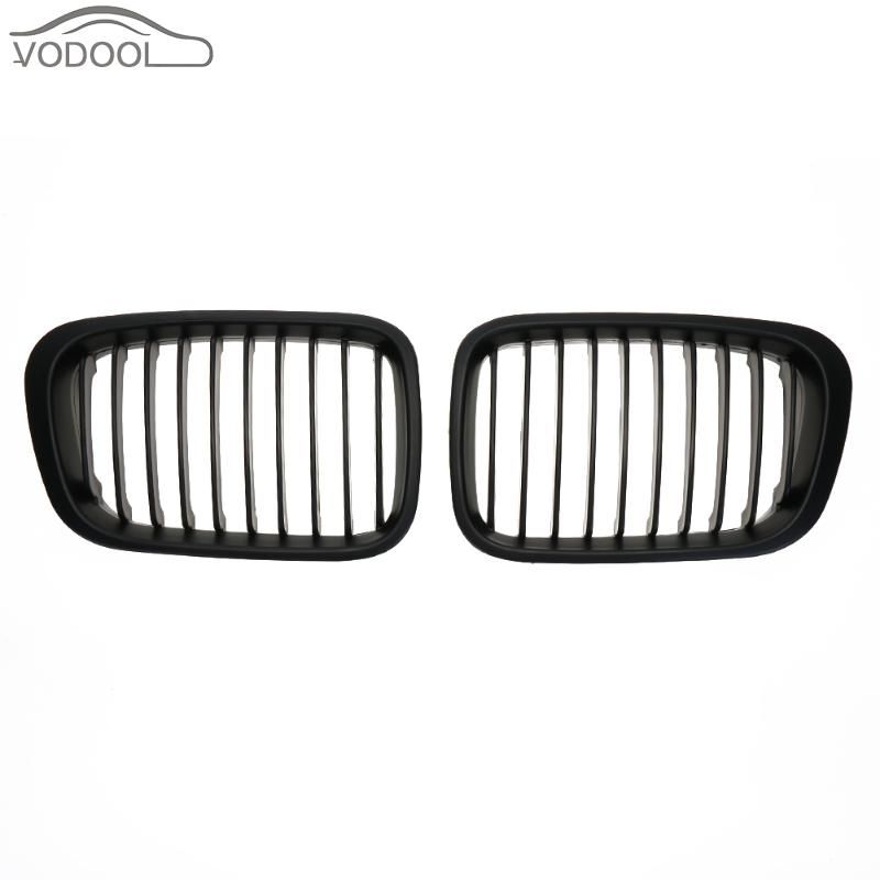 1 Pair ABS Matte Black Car Front Kidney Grille Racing Grills for BMW E46 98-01318i 320i 325i 330i 1998-2001 Auto Accessories
