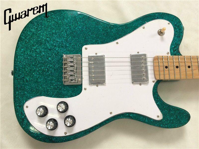 Electric guitar/Gwarem 2018 new luck star tele guitar/blue color/guitar in china