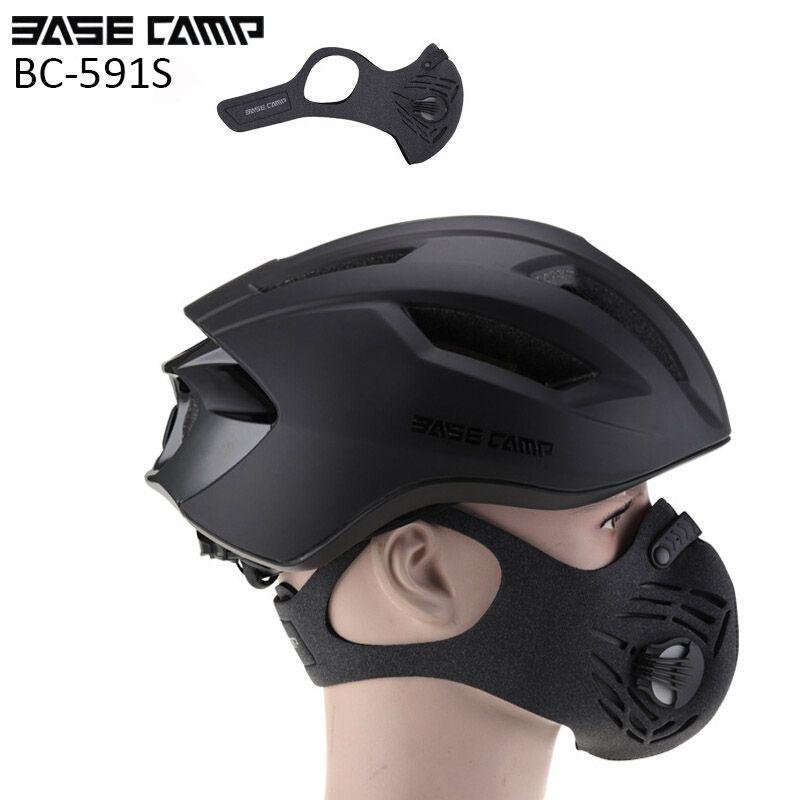 BaseCamp Radfahren Maske Mit Filter 3 Farben 3,0 Halbe Gesicht Carbon Fahrrad Sporttraining Maske Mascarilla Polvo Mascaras Ciclismo