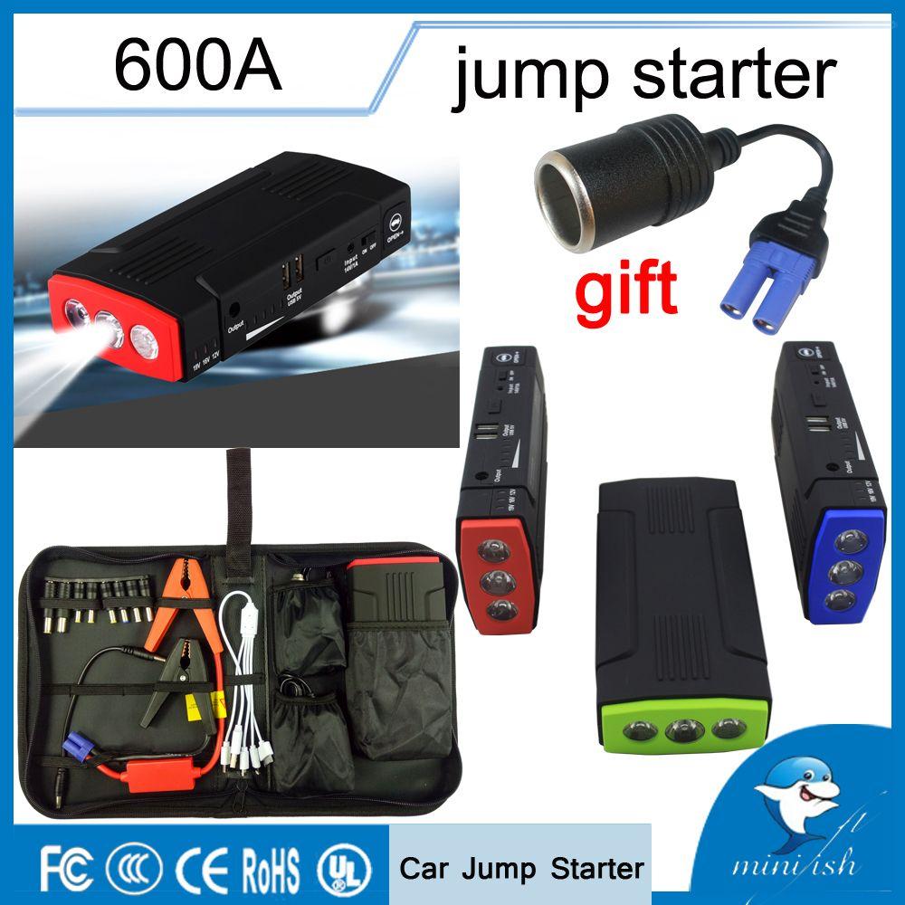 Portable multifonction 600A AUTO démarrage d'urgence chargeur de batterie moteur Booster batterie externe voiture saut démarreur pour batterie 12 V