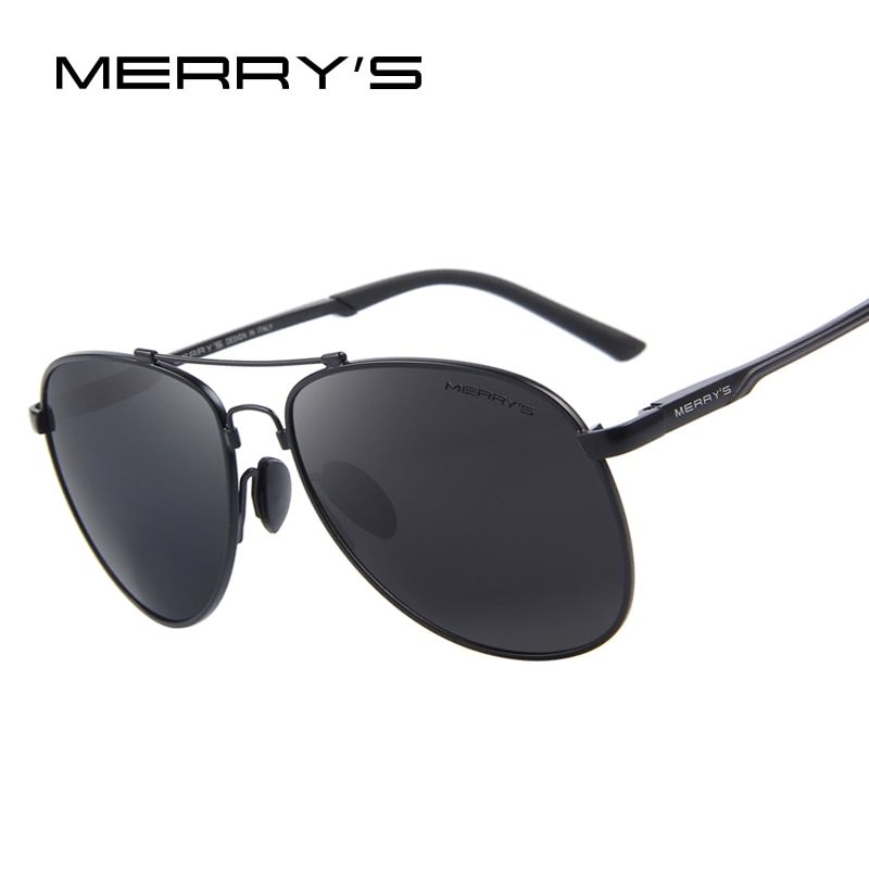 MERRY'S Männer Klassische Marke Luftfahrt Sonnenbrillen HD Polarisierte Aluminium Fahren TR90 Titan Brücke sonnenbrille S'8716