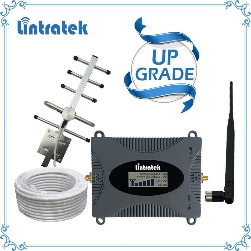 Lintratek Powerful GSM Repeater 900MHz LCD Display GSM Cellular Signal <font><b>Booster</b></font> UMTS 900MHz Mini Phone Amplifier UPGRADE #2017