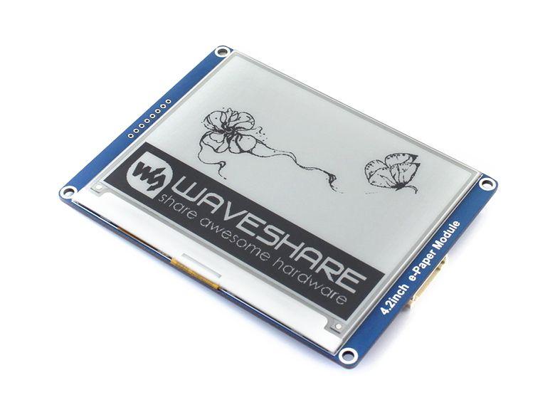 400x300 4.2 pouces E-ink affichage papier module Pas rétro-éclairage Ultra faible consommation d'énergie SPI interface Compatible avec divers conseils