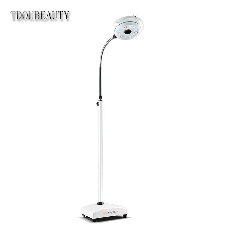 2019 NEW TDOUBEAUTY Dental Department Portable Mobile LED Surgical Medical Exam Light Shadowless Lamp Pet Hospital KD-2012D-3