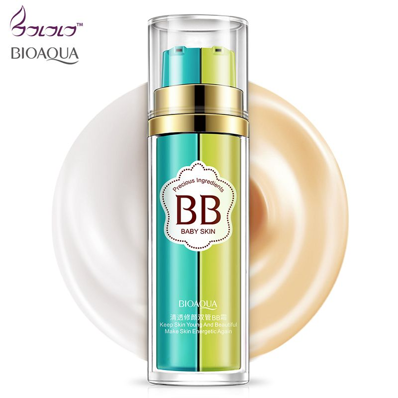 bioaqua makeup bb cream,foundation,bb and foundation in one bottle,base, natural bband cc cream keep skin young and bea