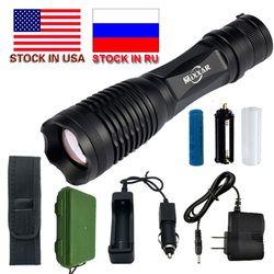 ZK20 9000/9500LM Водонепроницаемый светодиодный фонарь XM-L T6 L2 факел 5 Режим Фонарь с регулируемым светом 18650 Батарея дропшиппинг акции в США, RU