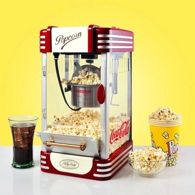 Electric American style popcorn machine automatic hot oil popcorn maker stainless steel non-stick pot Popcorn Making Machine