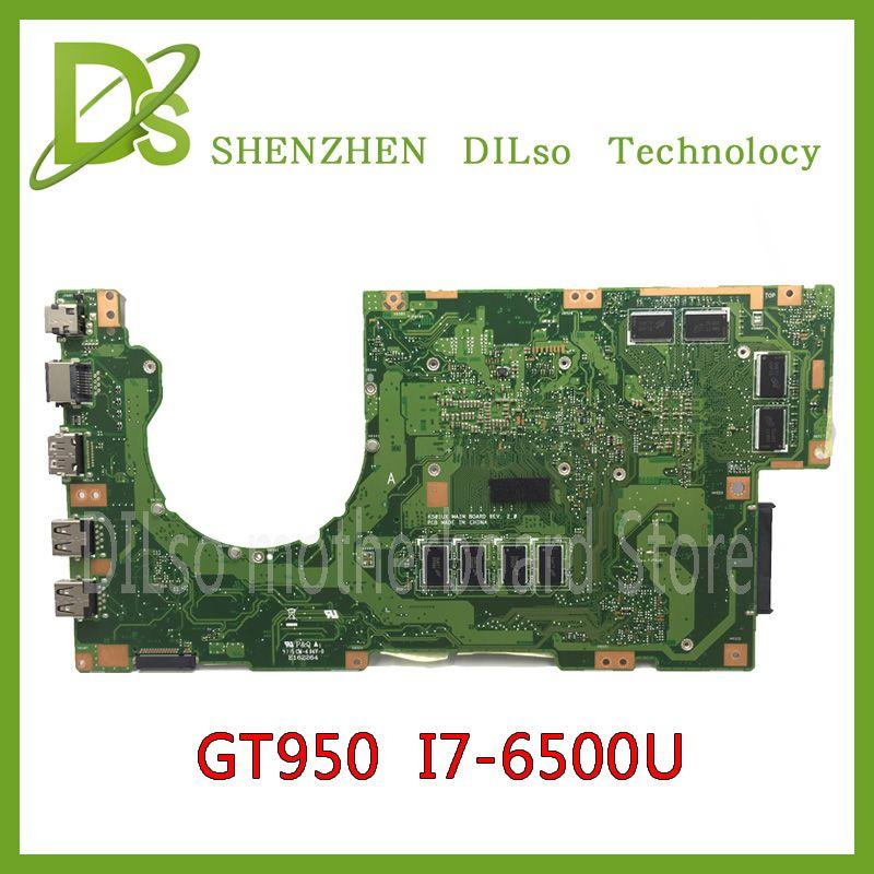 KEFU K501U Für ASUS K501UX K501UB laptop motherboard K501UX mainboard rev2.0 i7 cpu mit grafikkarte 100% getestet