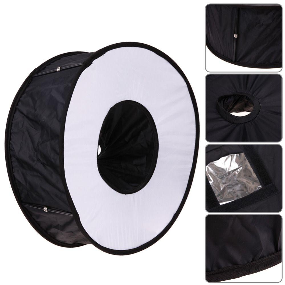 45cm Ring Softbox Speedlight Round Style Flash Light Shoot Soft box Foldable