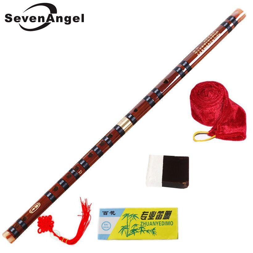 High Quality Bamboo Flute Professional Woodwind Flutes Musical instruments C D E F G <font><b>Key</b></font> Chinese dizi Transversal Flauta