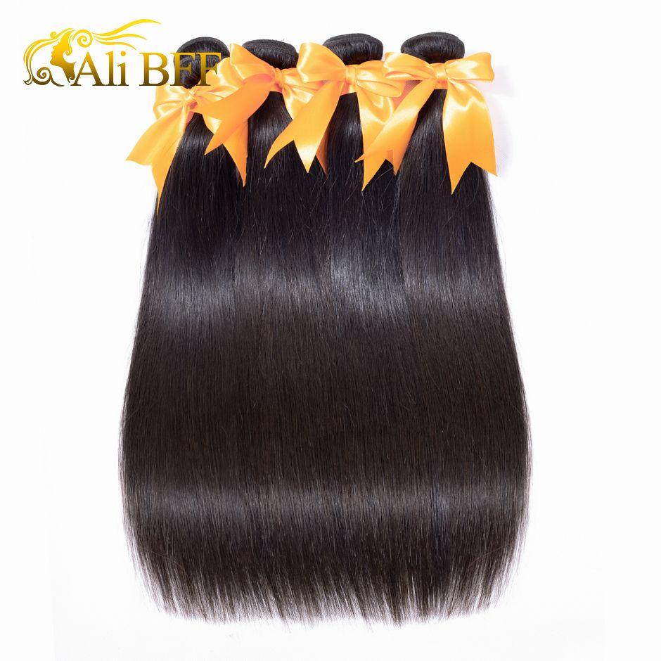 ALI BFF Brazilian Straight Hair Bundles 100% Human Hair Weave Bundles Natural Color Remy Hair Extensions Buy 1/3 or 4 Bundles
