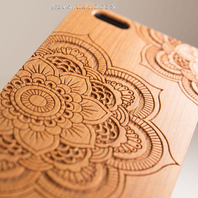 Karstadt naturel en bois bambou protecteur étui rigide couverture PC pare-chocs pour iPhone X XR XS Max 5 5 S SE 8 Plus 6 6 S 8 7 Plus