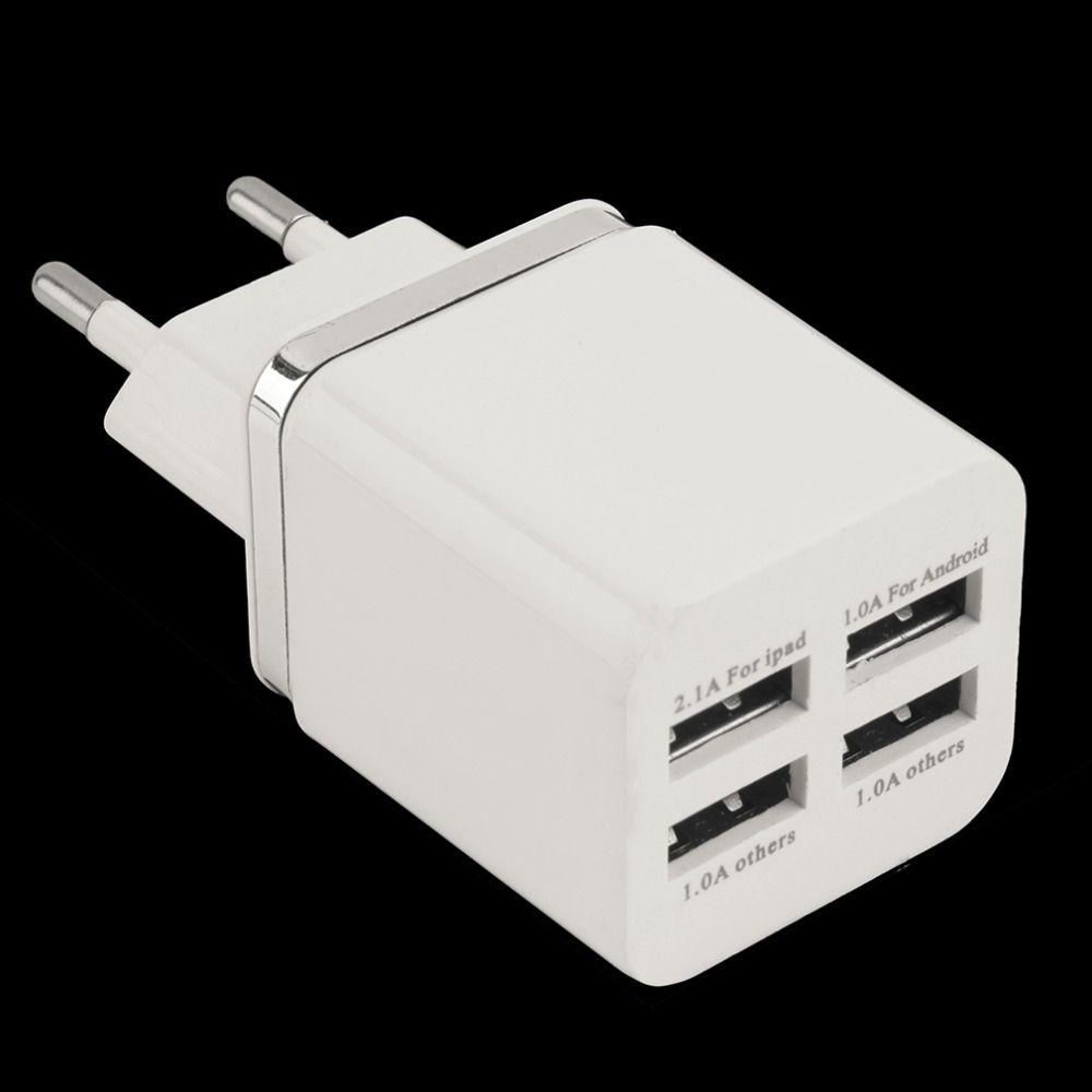 Auf lager! weiß 4 Ports USB Reise-ladegerät Multi Power Adapter Pack Eu-stecker Neueste heiße neue